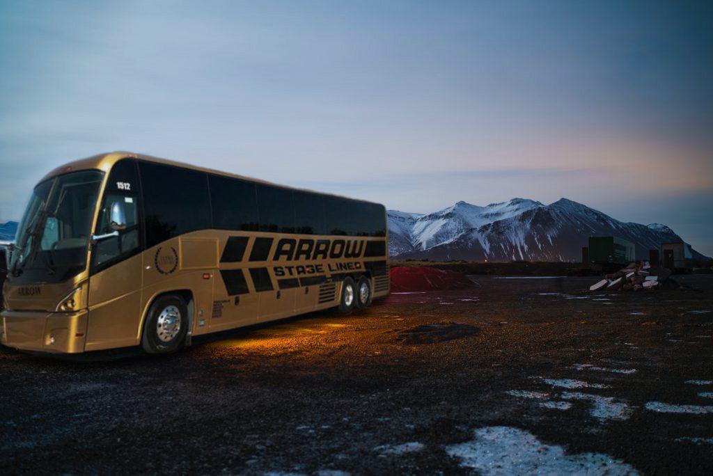 arrow stage lines tour bus